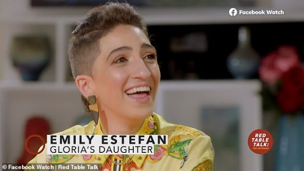 Assumptions: 'I was surprised that people thought I was not gay,' she told host Gloria Estefan, Emily Estefan [pictured] And Gloria's Daytime Emmy Award winner Lily Estefan