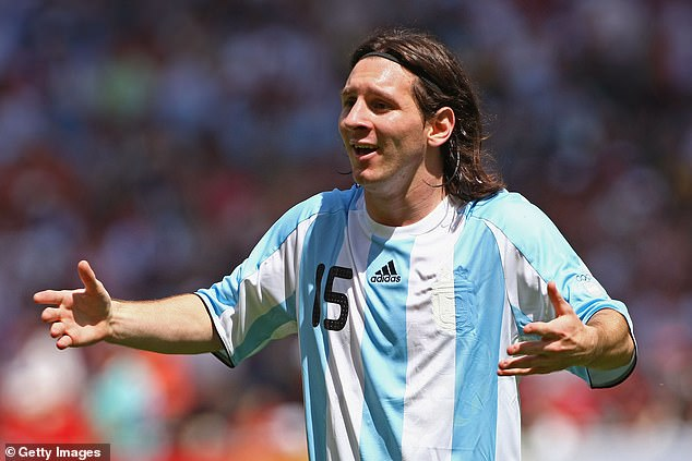 Messi (above) and Aguero also featured when Argentina won gold at the 2008 Olympic Games