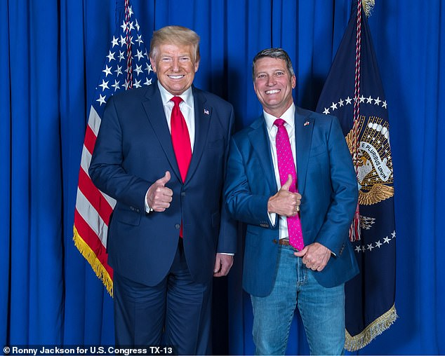 Former White House doctor Ronny Jackson said in a press briefing arranged by the Trump campaign on Tuesday that Biden