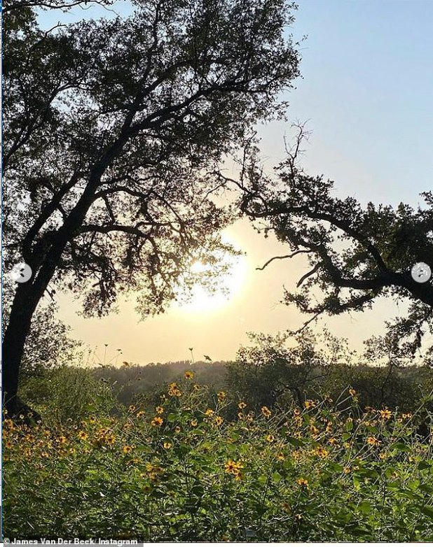 Natural Beauty: Varsity Blues actor shared a sunset decoration from this house in Texas