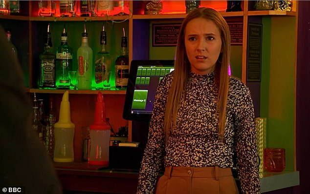 Shock: Frankie (Rose Ayling-Ellis) was seen emotionally telling her father:'You were 12. Mum was what 20? How are you even trying to justify this? Everything I thought I knew, I can't trust it Mick'