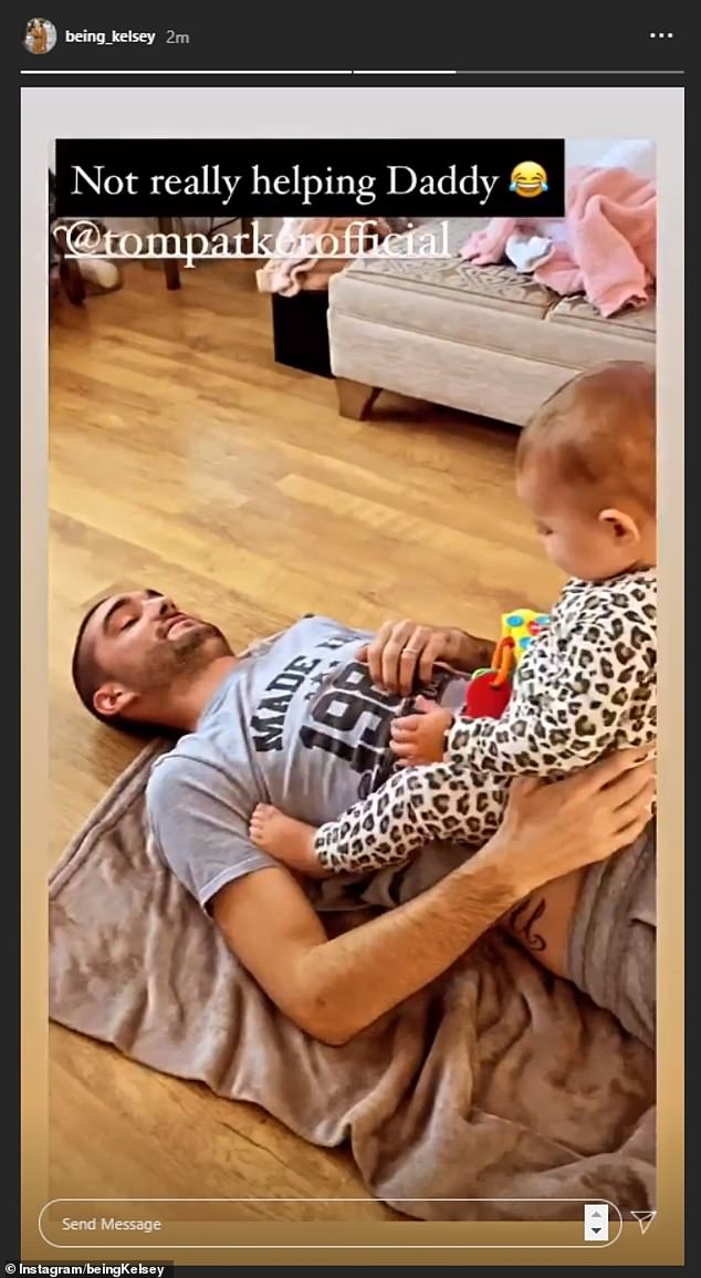 First priority:Tom Parker doted on his beloved baby daughter Aurelia in a sweet video on Wednesday, days after revealing he has been diagnosed with a terminal and inoperable brain tumour