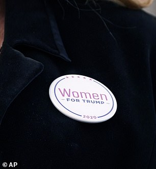 Patricia McCloskey pictured wearing a 'Women for Trump' pin