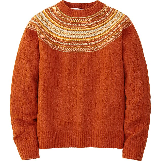 You can't go wrong with a Fair Isle-style knit Jumper, £34.90, uniqlo.com
