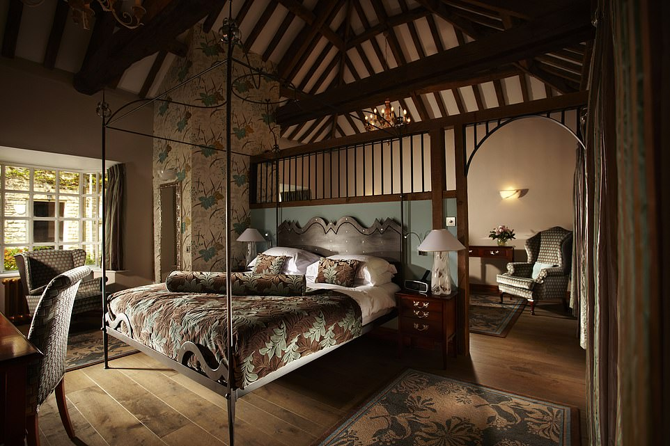 Pictured here is the Golden Leigh cottage suite - one of the hotel's most bucolic bedrooms