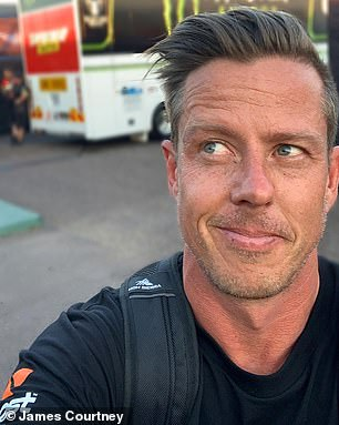 Kiss and tell: She is said to be dating Supercars champion James Courtney (pictured)