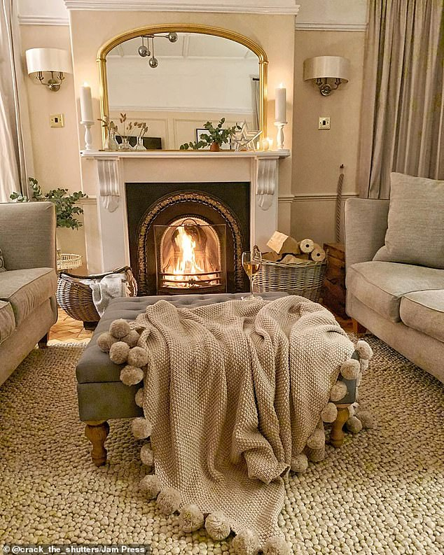 Jen and Miles decided to keep this large open fires during their renovations