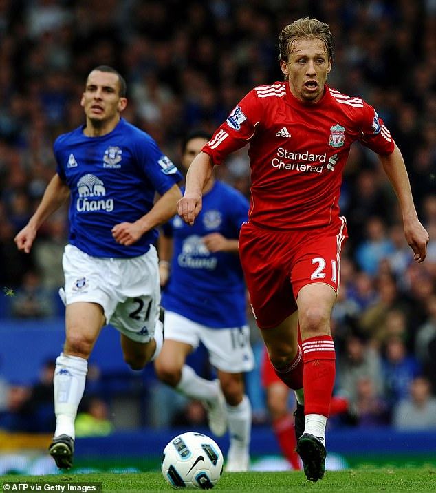 Lucas is still going strong having joined Lazio from Liverpool and is a fixture in their side