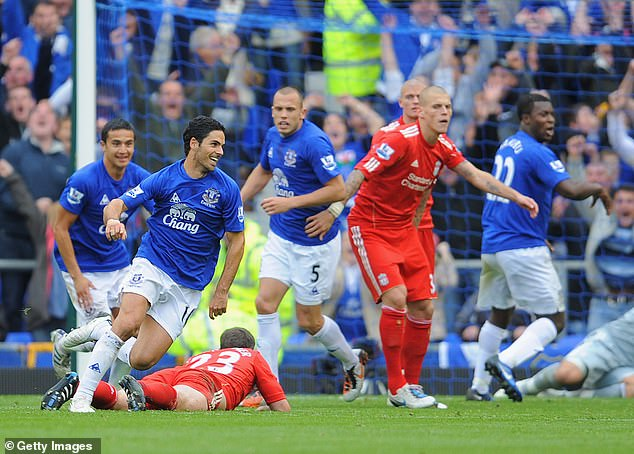 Mikel Arteta scored the second goal of the game back on October 17 10 years ago
