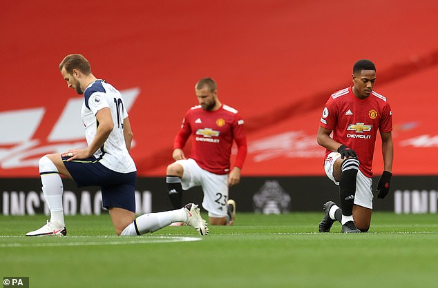Calvert-Lewin felt it was significant the Premier League got behind taking a knee before games