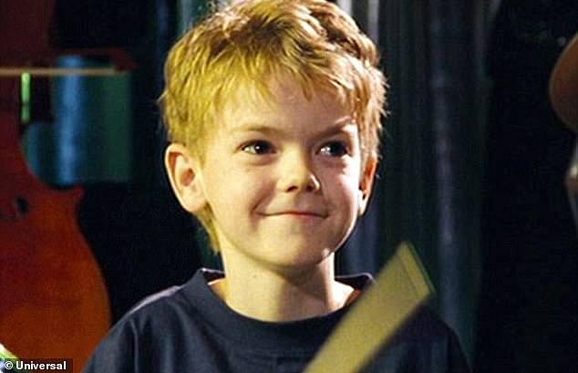 Fame: Thomas Brodie-Sangster was 12 years old when he shot his role as lovesick Sam, alongside Liam Neeson as his stepfather in the hit movie