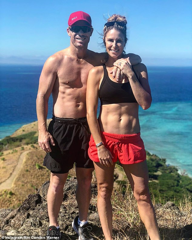 Heavy Lifting: Speaking to The Sunday Telegraph, Candice said she prepared for the military-style reality show by hiking with her cricket star husband David while carrying a backpack filled with rice