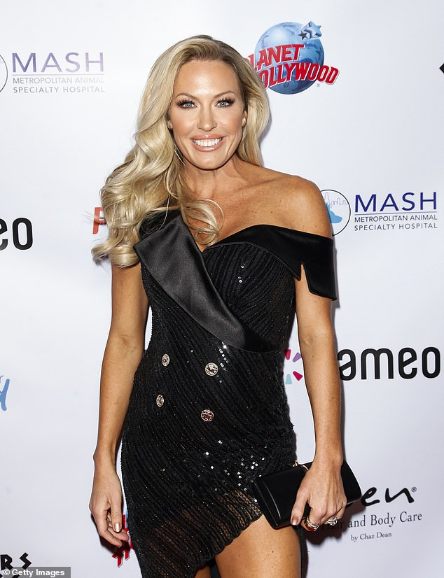 Candid:In a frank discussion on Thursday, Leah McSweeney and Lala Kent joined RHOC's Braunwyn Windham-Burke (pictured) to talk about the struggles of getting sober