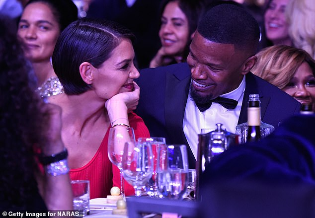Calling it quits: Holmes and Jamie Foxx, 52, previously split last May, after they began a discreet relationship back in 2013 (pictured in January, 2018)