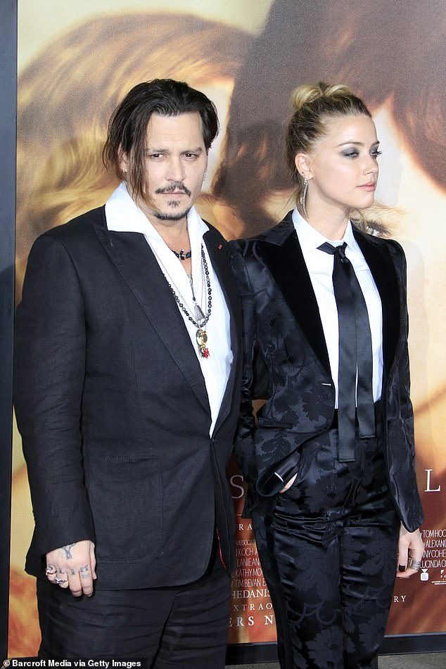 Divorce: The couple were married in a private ceremony at their Los Angeles home in 2015, but Heard filed for divorce in 2016, filing a restraining order against Depp