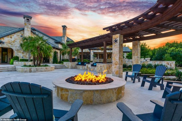The current, unnamed owner said that cocktails by the fire pit, which has heated floors was one of his favourite ways to spend time at home