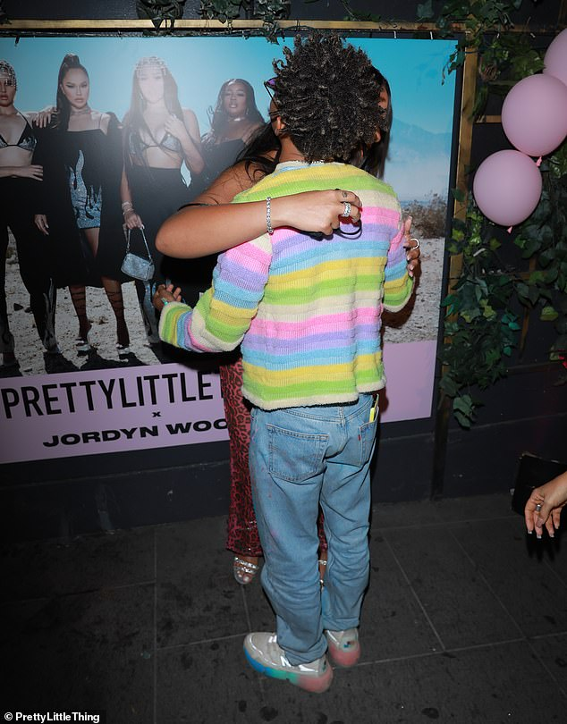 Nice to see you: He gave Jordyn a big hug when they bumped into one another