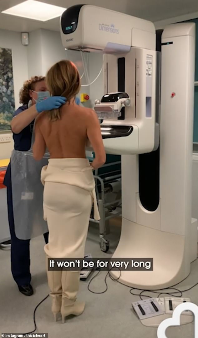 Get it ready! After the mammogram, Amanda assured fans that having the check for a few seconds is awkward as it could prove life-saving