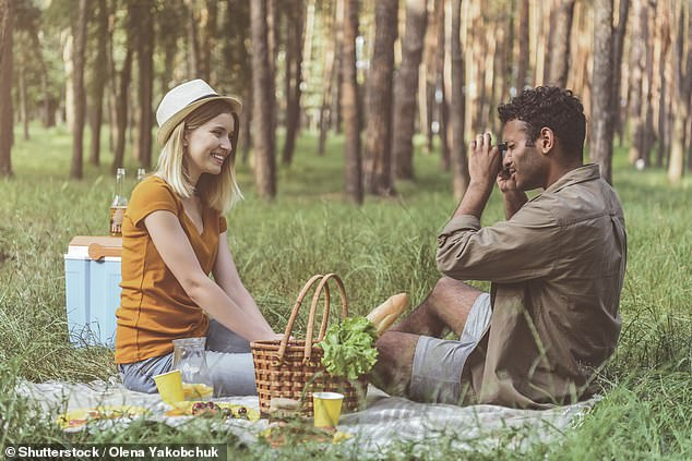 You may continue to see partners you do not live with (or have not formed a support bubble with) outside, including in a garden or other outdoor space (stock photo)