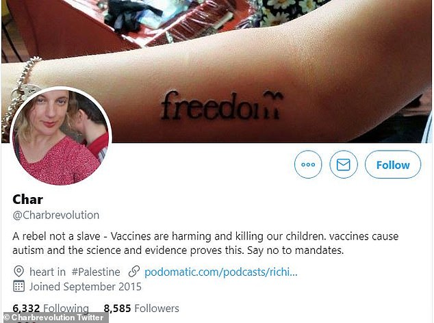 Ms Burchett describes herself as 'a rebel not a slave' on her Twitter profile