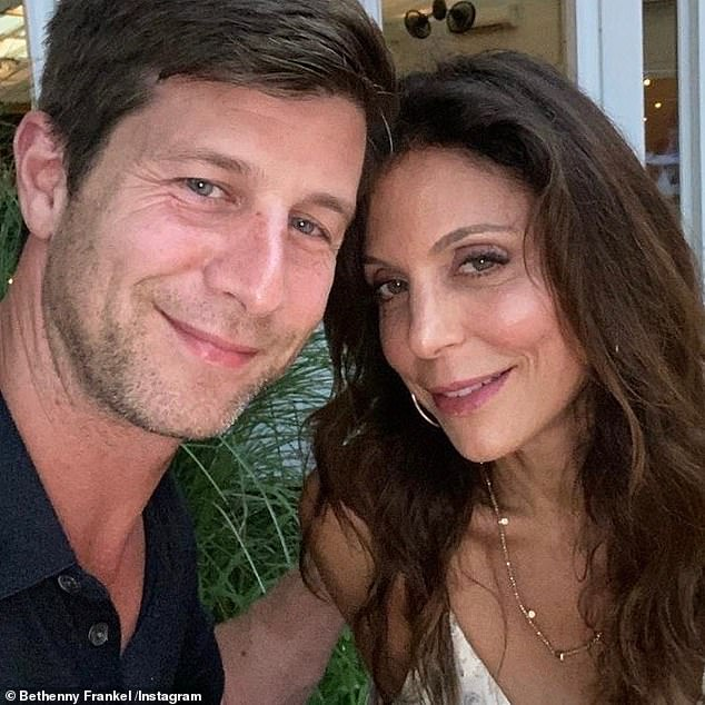 Single again: Bethenny split from her movie producer beau, Paul Bernon, last month after two years of dating
