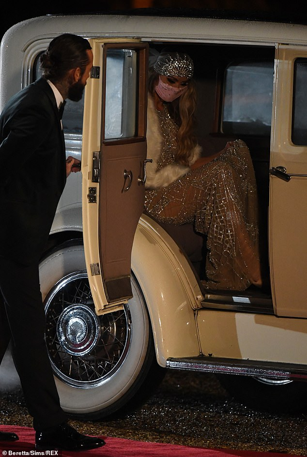 Gentleman: Pete got the door for Chloe as she concentrated on stepping out of the vintage car