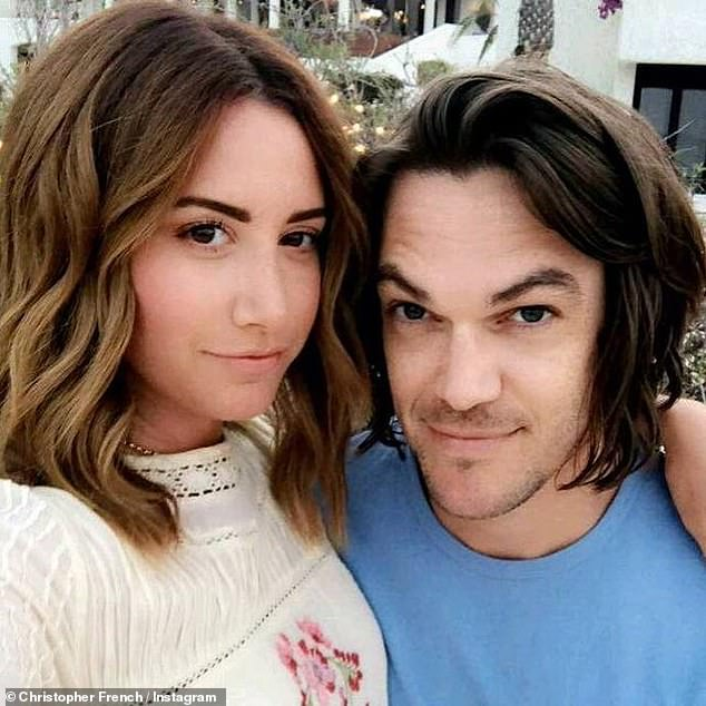 Lovebirds: Ashley and her husband Chris marked their sixth wedding anniversary on September 8, after tying the knot in 2014 in a secret ceremony