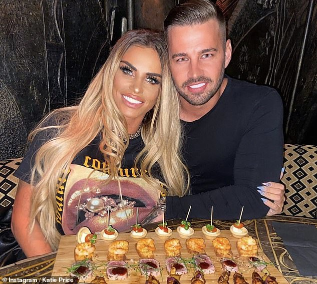 Big news? Carl Woods has sparked speculation that he could be planning to propose to Katie Price after he spent '£10K in the jewellery department' of Selfridges
