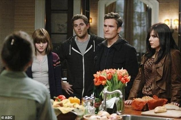 His hit show: The star, second from right, with Sally Field, Rachel Griffiths, Matthew Rhys, Emily VanCamp, and Dave Annable in Brothers & Sisters (2006)