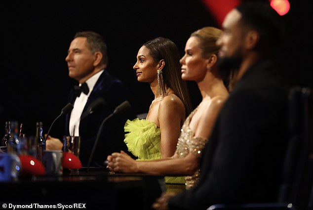 Caution: The dancer, along with fellow judges David Walliams and Alesha Dixon, had to self-quarantine as a `` precaution '' after coming into contact with some of the crew