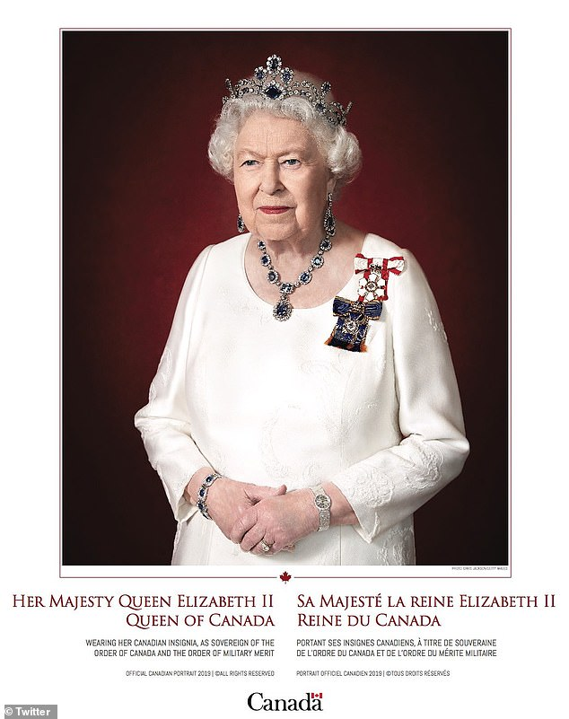 The Queen's new official Canadian portrait in honour of her ties to the Commonwealth has been released