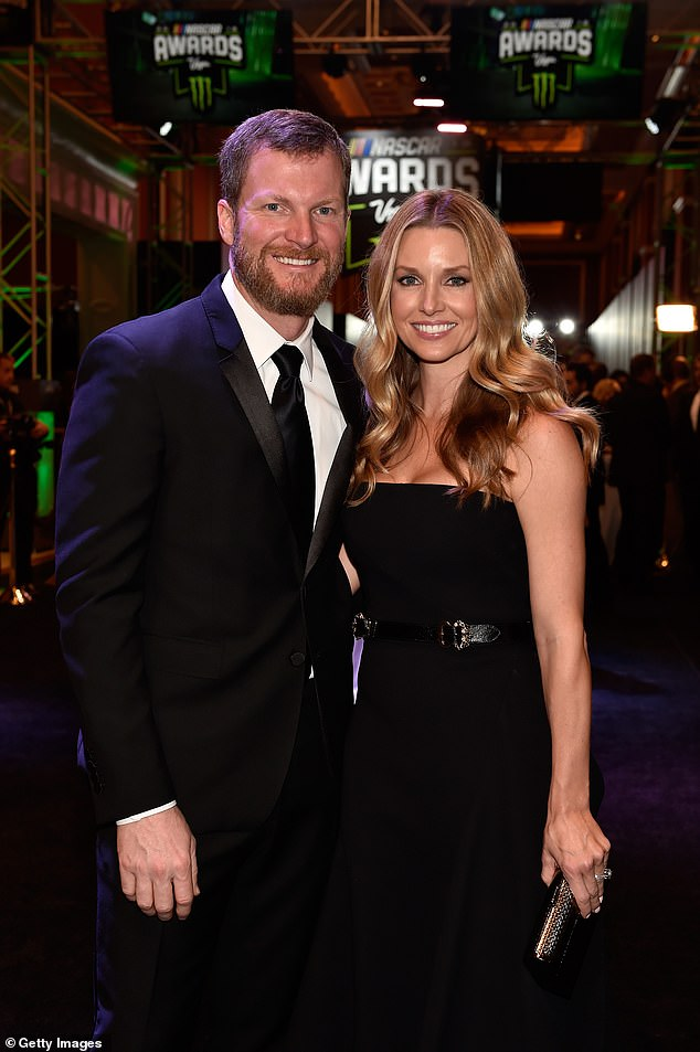 Big news: Dale Earnhardt Jr. announced on his podcast that he and wife Amy Reimann, 38, had welcomed their second daughter, as the couple are seen together in Las Vegas back in November 2018