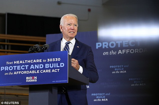 Democrat Joe Biden blasted Trump for a failure to 'condemn' the plot against Michigan Gov. Gretchen Whitmer