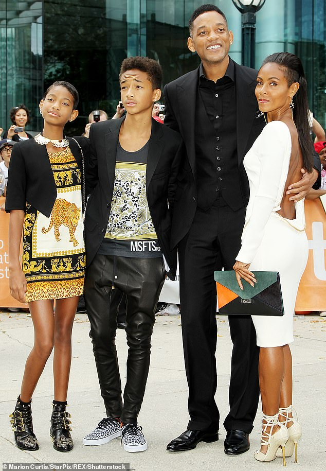 Supportive parents: Willow and Jaden were fortunate to have supportive parents with mother Jada Pinkett and father Will Smith, 52, who frequently encourage self-expression (pictured in September 2012)