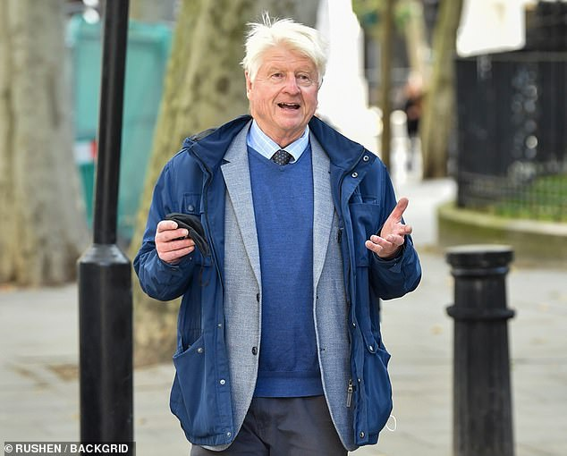 Boris Johnson gifted his father, Stanley (pictured in London yesterday), a group of beavers on his 80th birthday
