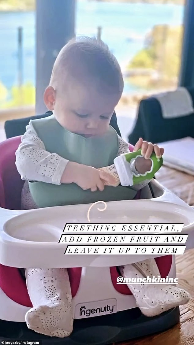 So cute!Jasmine's second favourite baby product was a mesh baby feeder, which she said was a 'teething essential'