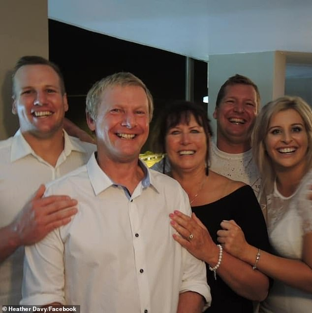 Tom Davy (pictured left with his family) had recently moved to Queensland before he was killed on the fatal night