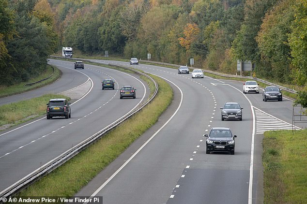Traffic is still flowing freely across the border from England to Wales on the first day of the supposed travel ban from a high-Covid area (A55 at Broughton pictured)