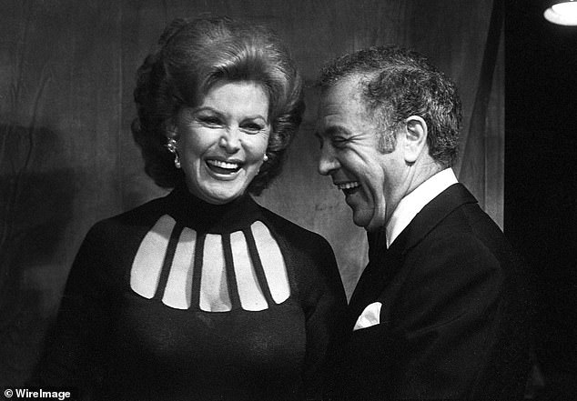 Flemings married a total of five times. Photographed in 1978 with her last husband, Ted Mann
