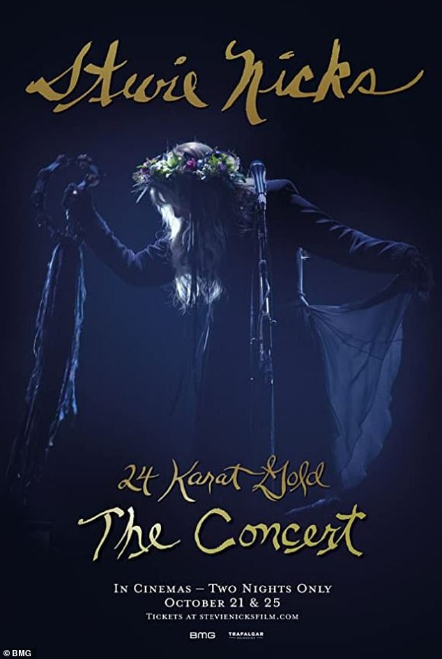 Catch it:Stevie is set to release 24 Karat Gold The Concert, a film made of her recent solo tour, in cinemas this week