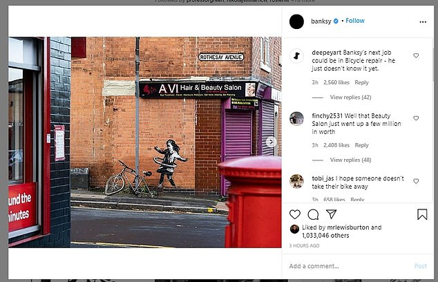 Banksy posted an image of the mural on his Instagram account, ending speculation as to the provenance of the graffiti