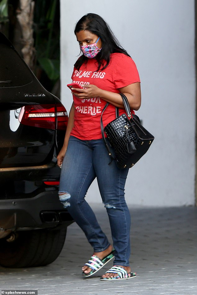 Keeping quiet: She never disclosed the pregnancy, but she was seen with a baby bump over the summer months