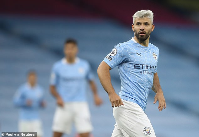 The game was Aguero's first of the season for Manchester City after an injury break