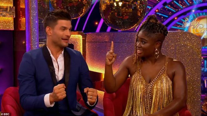 Yay: Clara Amfo, 36, and Aljaz Skorjanec, 30, were announced as a pairing