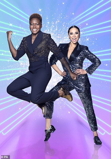 Hooray! The Strictly Come Dancing 2020 pairings were revealed on Saturday night during the highly-anticipated pre-recorded launch show for the 18th series (Nicola Adams and Katya Jones pictured)