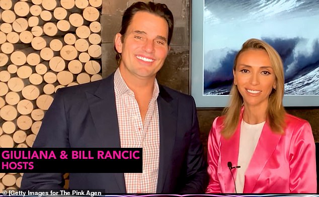 Side by side: Giuliana is pictured during The Pink Agenda's Virtual Gala this month with her husband Bill Rancic who also got COVID-19