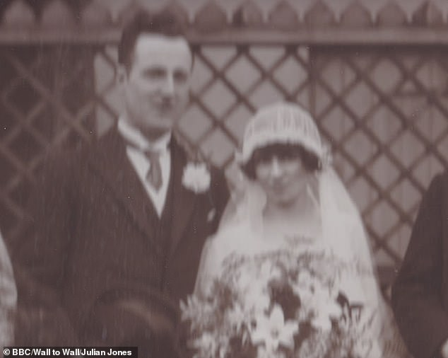 Ruth Jones's paternal grandparents, Henry and Anita Jones, pictured above. Letters appeared to show they consummated their relationship before getting married in the 1920s