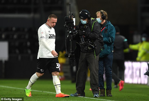 Rooney, 34, will miss four matches for Derby if his test result comes back positive