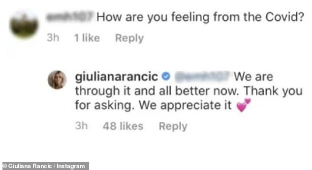 'All better now':Giuliana Rancic has revealed that she and her family have recovered after being diagnosed with coronavirus last month