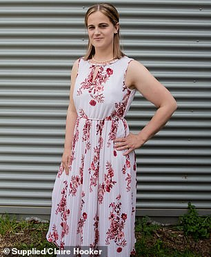 AFTER: Just two and a half years later, Claire has lost 35 kilograms, and she said she has never had more energy (pictured now)